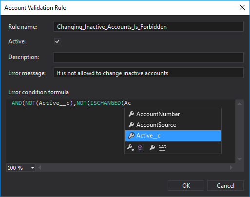 Create validation rules for your sObjects directly in The Welkin Suite